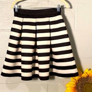Black Size Small Black/White Pleated Skirt